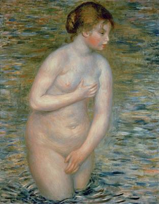 Erotica Painting - Nude In The Water by Pierre Auguste Renoir