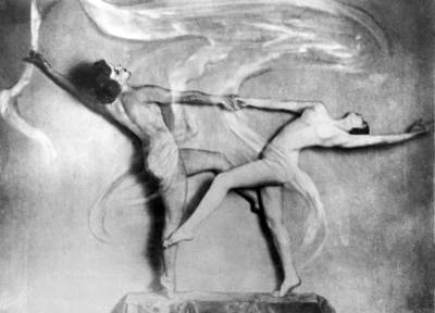 Exuberant Photograph - Nude Interpretive Dancers by Underwood Archives