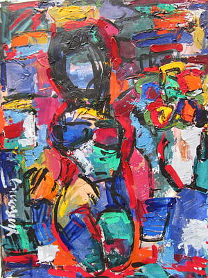 Painting - Nude by Len Yurovsky