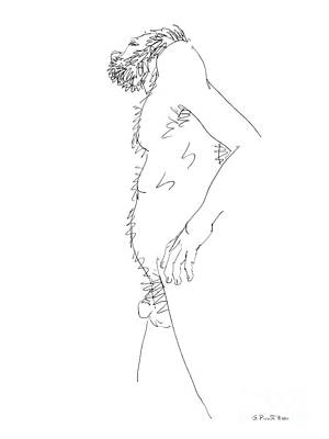 Male Nude Drawing Drawing - Nude Male Drawings 6 by Gordon Punt