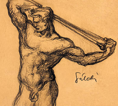 Nude Men Art Print by Odon Czintos