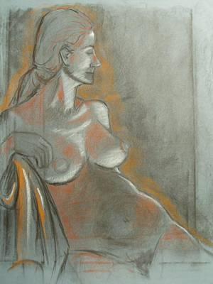 Nude Model  Art Print by Aveda Allen