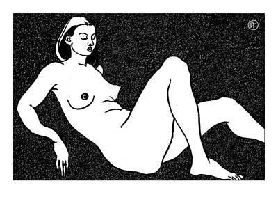 Nude Sketch 50 Art Print
