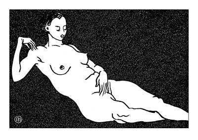 Figurative Drawing - Nude Sketch 68 by Leonid Petrushin