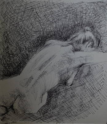 Drawing - Nude Study by Lynn Hughes