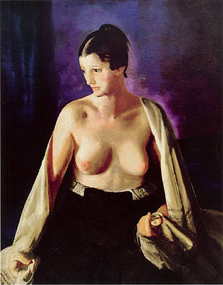 Shawl Painting - Nude With White Shawl by George Bellows