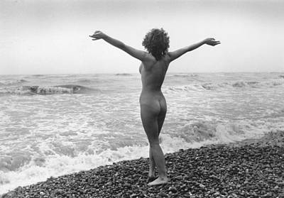 Nudist Beach Print by Evening Standard