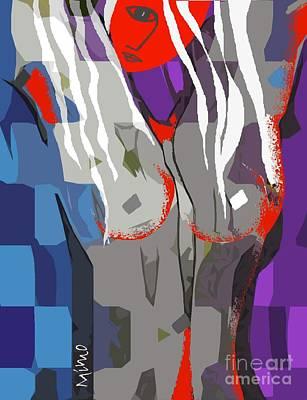 Mixed Media - Nue 7 by Mimo Krouzian