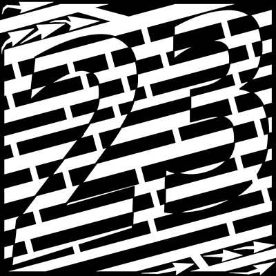 Yonatan Drawing - Number 23 Maze by Yonatan Frimer Maze Artist