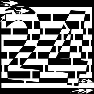 Yonatan Drawing - Number 24 Maze  by Yonatan Frimer Maze Artist