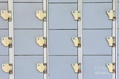 Numbered Lockers Print by Sami Sarkis