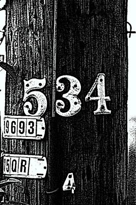 Numbers Art Print by Bret Worrell