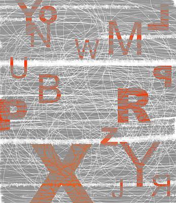 Numbers Orange Art Print
