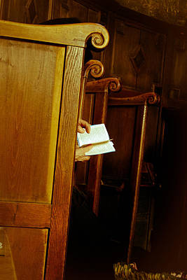 Photograph - Nun Reading The Bible In Church by Emanuel Tanjala
