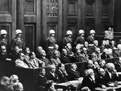 Nuremberg Trials,first Row Hermann Print by Everett