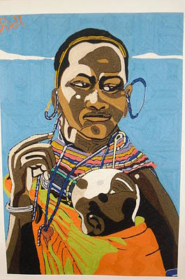 Nurturing Art Print by Richmond Agbesi