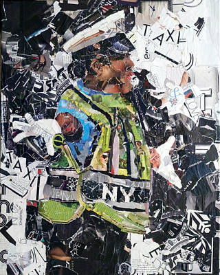 Tear Painting - Ny Policewoman by Suzy Pal Powell