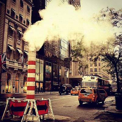 Steam Wall Art - Photograph - #ny #streettogs #instastreet #newyork by Roman Kruglov
