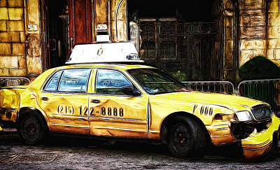 Ny Taxi Cab Art Print by Fiona Messenger