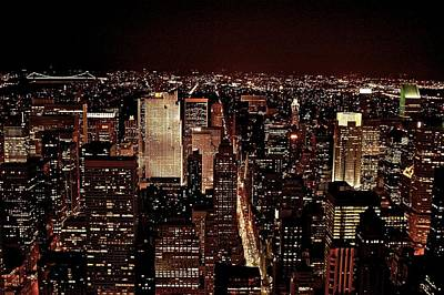 Nyc At Night Art Print by Rawimage Photography