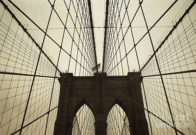 Nyc- Brooklyn Brige Art Print by Hannes Cmarits
