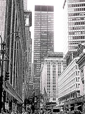 Building Photograph - Nyc Buildings Labyrinth by Mario Perez