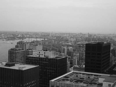 Intersection Photograph - Nyc From The Top 2 by Naxart Studio