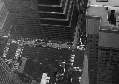 Intersection Photograph - Nyc From The Top by Naxart Studio