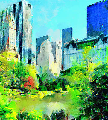 Nyc Digital Art - Nyc Grand Park by Yury Malkov
