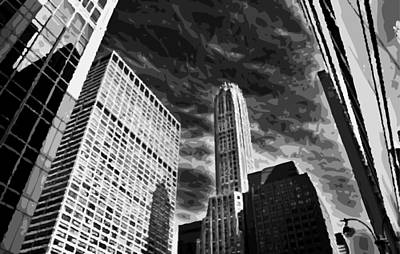 Nyc Looking Up Bw10 Art Print