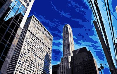 Nyc Looking Up Color 16 Art Print