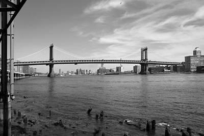 Nyc Manhattan Bridge Art Print by Mike McGlothlen