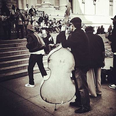 Music Photograph - #nyc #ny #manhattan #newyork #cello by Fernando Balino
