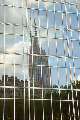 Photograph - Nyc Reflection 4 by Art Ferrier
