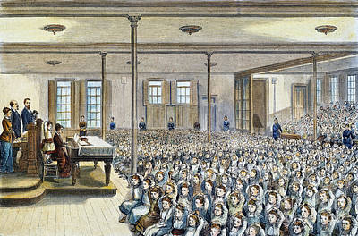 Nyc School Room, 1881 Art Print by Granger