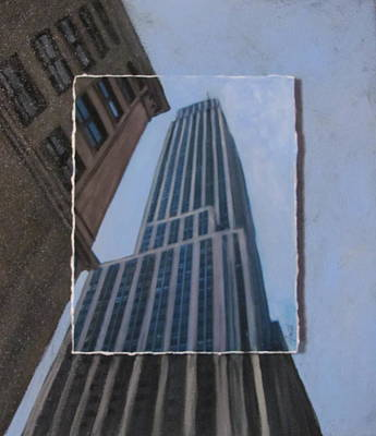 Empire State Building Mixed Media - Nyc Severe Empire Layered by Anita Burgermeister
