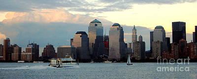 Sailboat Photograph - New York City Skyline by Judee Stalmack