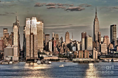 Skylines Royalty-Free and Rights-Managed Images - NYC Skyline by Susan Candelario