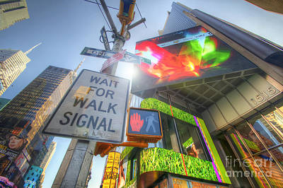 Photograph - Nyc Street Signs by Yhun Suarez