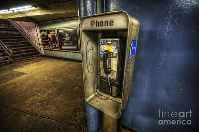 Photograph - Nyc Subway Phone by Yhun Suarez