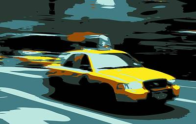 Nyc Taxi Color 6 Art Print by Scott Kelley