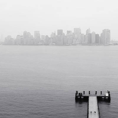 Nyc View From Liberty Island Art Print