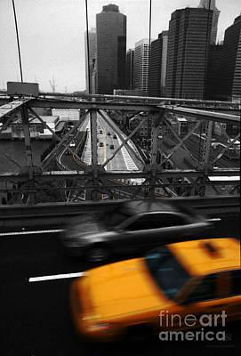 Nyc Yellow Cab Art Print by Hannes Cmarits
