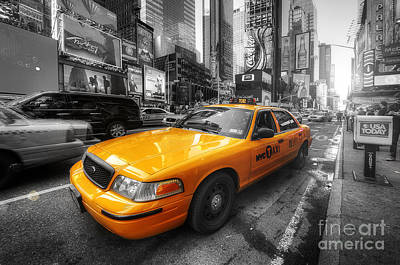 Photograph - Nyc Yellow Cab by Yhun Suarez