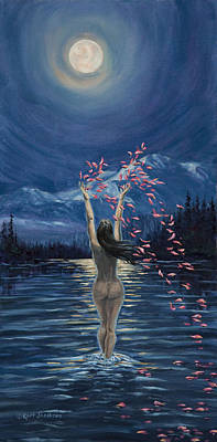 Art Print featuring the painting Nymphs Prayer by Kurt Jacobson