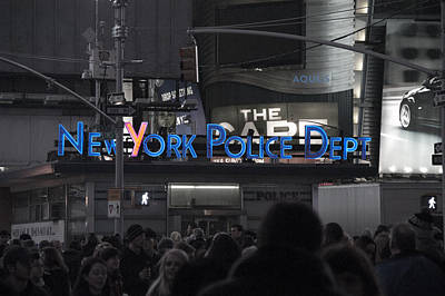 Nypd Photograph - Nypd Time Square by Avery Eden