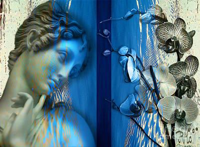 Art Print featuring the digital art O Tu... Suavissima Virga by Rosa Cobos