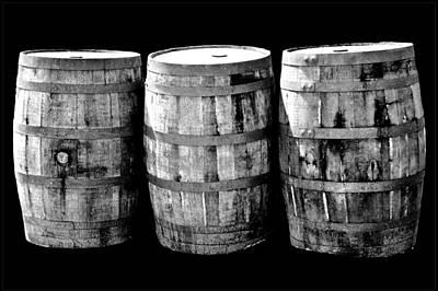Barrel Photograph - Oak Barrel Gray by LeeAnn McLaneGoetz McLaneGoetzStudioLLCcom