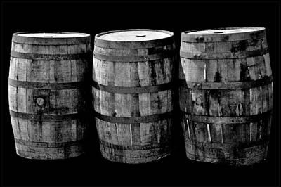 Photograph - Oak Barrel Red Filter by LeeAnn McLaneGoetz McLaneGoetzStudioLLCcom