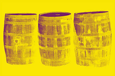 Beer Photograph - Oak Barrel Yellow Gradient by LeeAnn McLaneGoetz McLaneGoetzStudioLLCcom